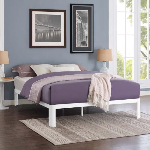 Corinne Full Bed Frame in White