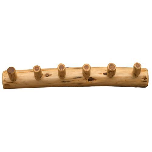 Wall Coat Rack - 36-inch - Natural Cedar - Six pegs