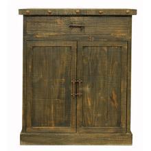 Las Piedras Oak Cabinet