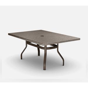 "42"" x 62"" Rectangular Balcony Table (with Hole) Ht: 34.25"" 37XX Universal Aluminum Base (Model # Includes Both Top & Base)"