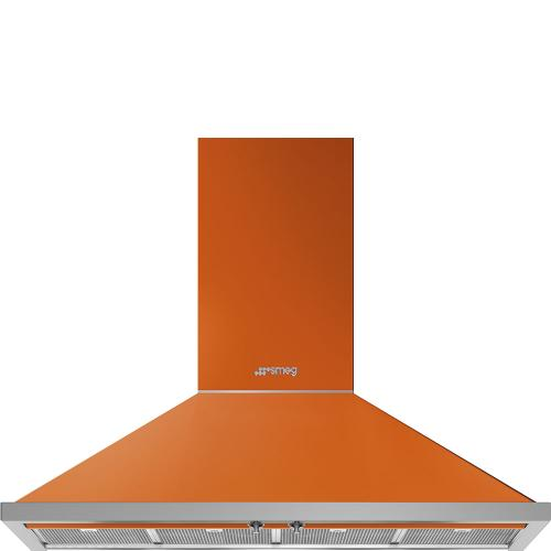 "48"" Portofino Chimney Hood, Orange"