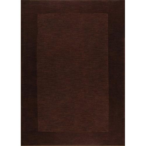 """Durable Hand Tufted Transition Solid Brown Area Rug by Rug Factory Plus - 7'6"""" x 10'3"""" / Solid Brown"""