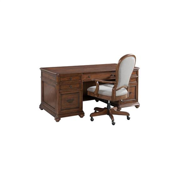 Riverside - Clinton Hill - Executive Desk - Classic Cherry Finish