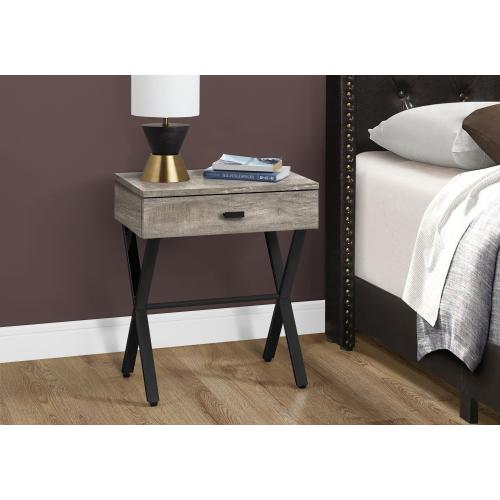 """Gallery - ACCENT TABLE - 24""""H / TAUPE RECLAIMED WOOD / BLACK METAL"""