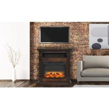 See Details - Cambridge Sienna 34 In. Electric Fireplace w/ Enhanced Log Display and Walnut Mantel, CAM3437-1WALLG2
