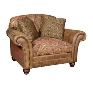 Katherine Leather/Fabric Chair