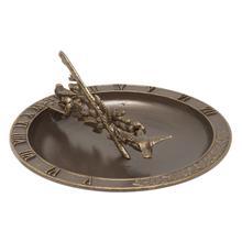 See Details - Hummingbird Birdbath Sundial - French Bronze