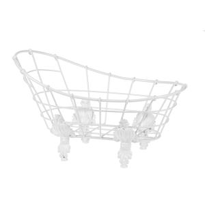 Enamel White Wire Bathtub (2 pc. set)