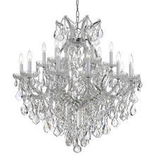 Maria Theresa 19 Light Clear Crystal Chrome Chandelier