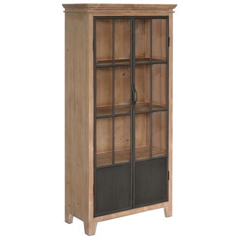 Crestview Collections - Darlington 2 Door Wood and Metal Curio