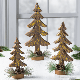 Woodland Christmas Tree Assortment (6 pc. assortment)