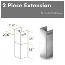 """See Details - ZLINE 2-36"""" Chimney Extensions for 10 ft. to 12 ft. Ceilings (2PCEXT-KECOM)"""