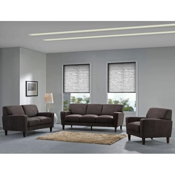 See Details - Evan Chocolate Sofa, Loveseat & Chair, SWU8130