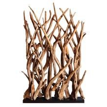 Ibiza Reclaimed Teak Root Divider, Natural