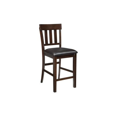 Haddigan Upholstered Barstool Dark Brown