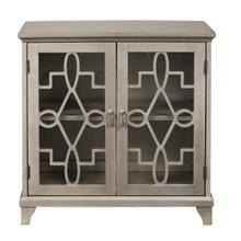 See Details - Antique silver kd two door chest