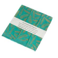 """20"""" x 30"""" x 3 sheets Turquoise Gift Wrap (Feathers Option)"""
