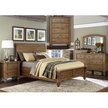 View Product - King Storage Bed, Dresser & Mirror, Chest, NS