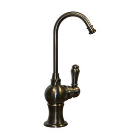 Point of Use cold drinking water faucet with a gooseneck spout.