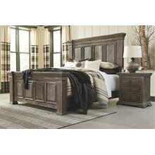 California King Panel Bed With Mirrored Dresser