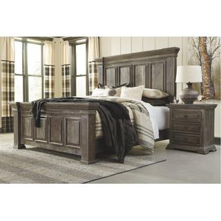 See Details - California King Panel Bed With Mirrored Dresser
