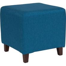 See Details - Ascalon Upholstered Ottoman Pouf in Blue Fabric