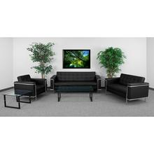 HERCULES Lesley Series Reception Set in Black LeatherSoft