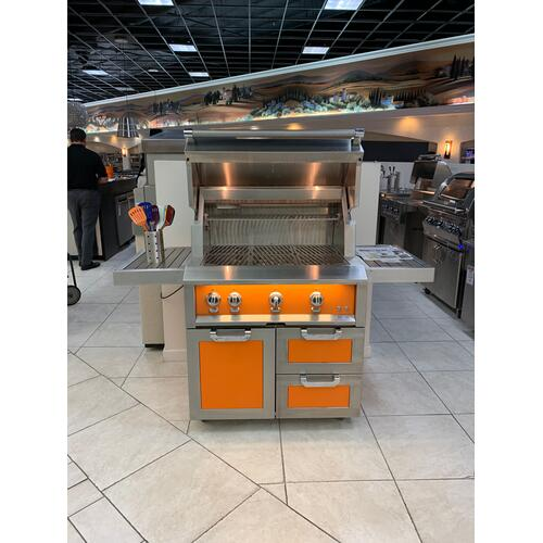 "36"" Hestan Outdoor Tower Cart with Door/Drawer Combo - GCR Series - Steeletto"