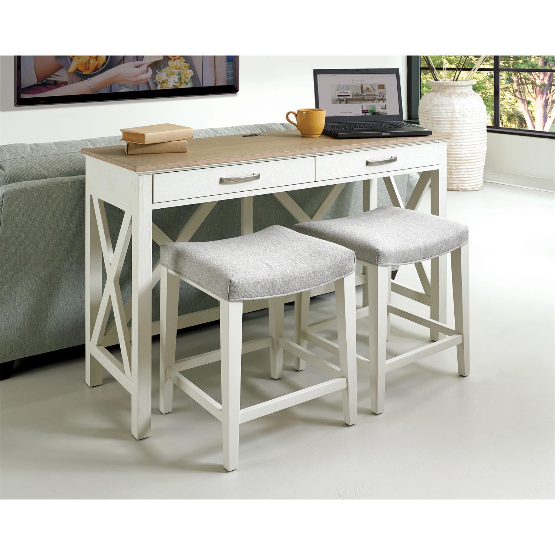 RiversideOsborne - Workstation - Timeless Oak/winter White Finish