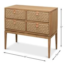 See Details - Woven Front Chest Of Drawers