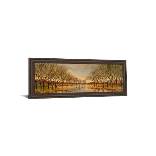 """Twilight On The River"" By Carson Framed Print Wall Art"