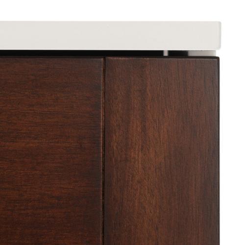 Genevieve 6 Drawer Dresser - Walnut / White