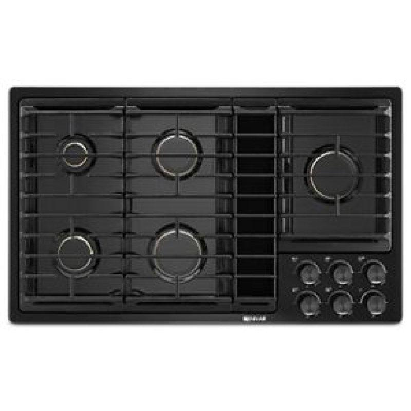 "Black 36""JX3 Gas Downdraft Cooktop"