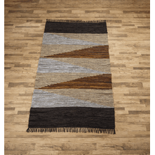 See Details - Geo Leather Chindi 5'x8 Rug (Each One Will Vary)