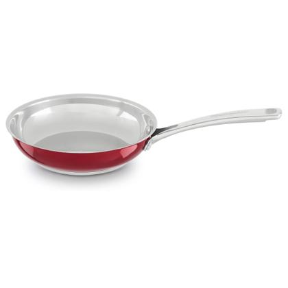"Stainless Steel 8"" Skillet - Candy Apple Red"