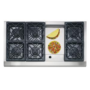 "GE Monogram® 48"" Professional Gas Cooktop with 6 Burners and Griddle (Liquid Propane)"