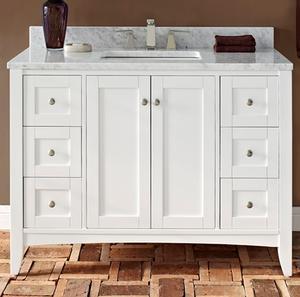 "Shaker Americana 48"" Vanity - Polar White Product Image"