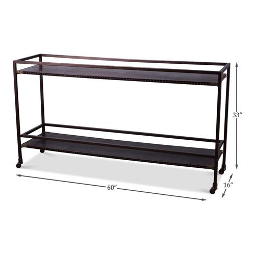 Trolley Console Table W/ Casters