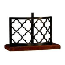 Bronzed Gothic Trellis Table Lamp Base