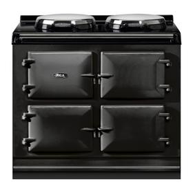 "AGA Total Control 39"" Electric Black with Stainless Steel trim"