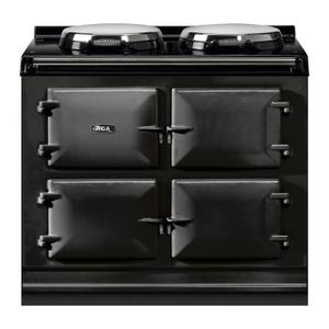 """AGAAGA Total Control 39"""" Electric Black with Stainless Steel trim"""