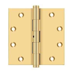 "4 1/2"" x 4 1/2"" Square Hinges - PVD Polished Brass Product Image"