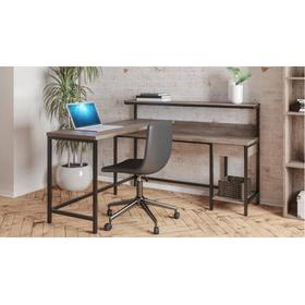 Arlenbry L-Desk with Storage Gray