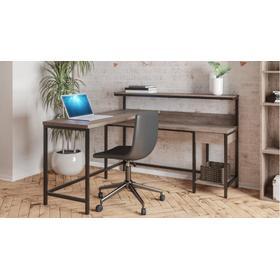 See Details - Arlenbry L-Desk with Storage Gray