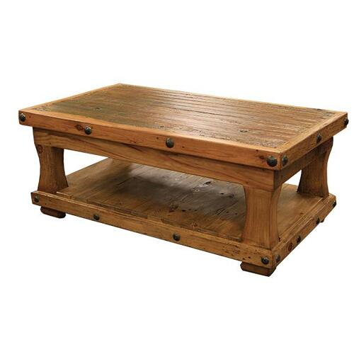 Rectangular Coffee Table W/Shelf