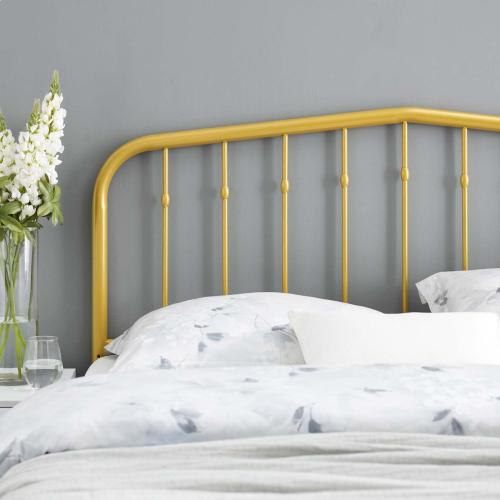 Lennon Queen Metal Headboard in Gold