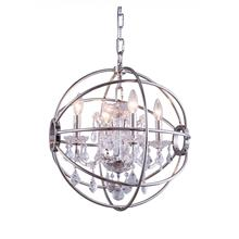 View Product - Geneva 4 light Polished nickel Pendant Clear Royal Cut crystal