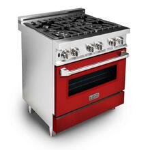 ZLINE 30 in. Professional Dual Fuel Range with Red Matte Door (RA-RM-30)