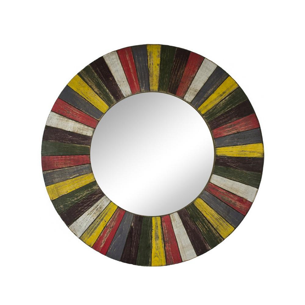 See Details - Wooden Mirror, Multi