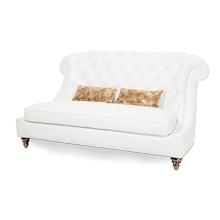Damario Tufted Loveseat in White Gold